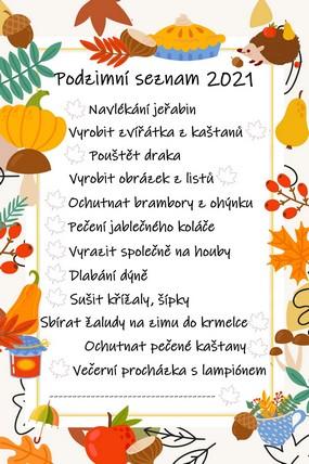 Náš podzimní seznam 2021