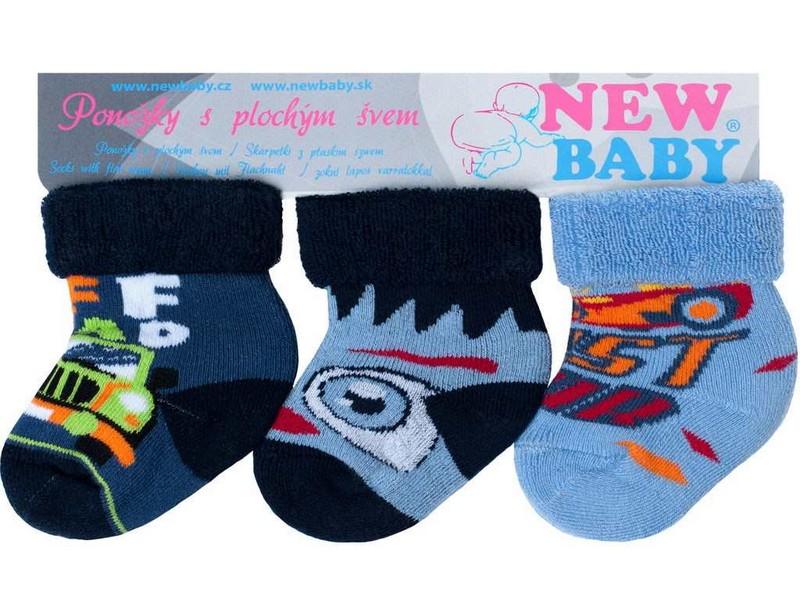 Froté ponožky barevné pro kluky - 3ks-velikost  56 b560a59044